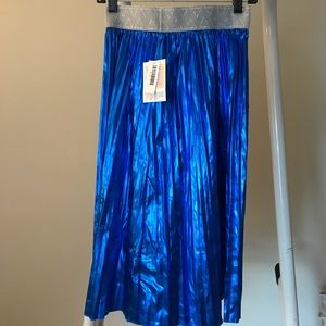 NWT LuLaRoe metallic blue Jill skirt XS
